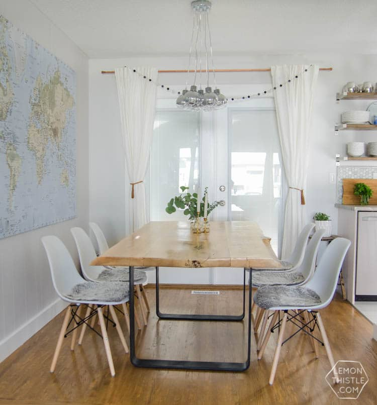 diy dining table with metal base