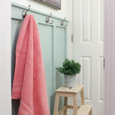 DIY Board and Batten in the Girls' Bathroom