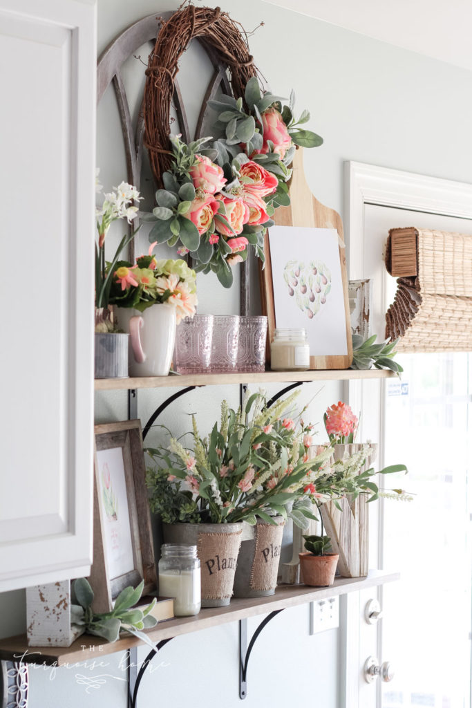 A flower shop spring home tour with lots of gorgeous fauxtanicals!