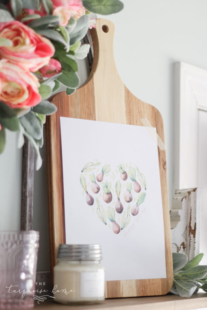 Heart succulents free spring printable!