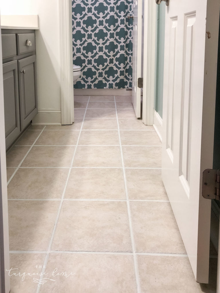 How to use grout paint and make grout white again! Beautiful after effect with just a couple hours!