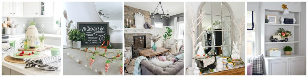 Seasonal Simplicity Spring Home Tour Series Tuesday collage