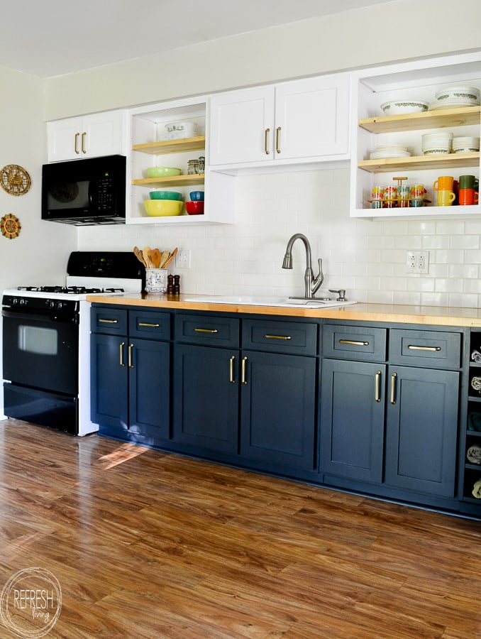 Remodel Kitchen on a Budget by Replacing the Door and Painting them with Alkyd Paint