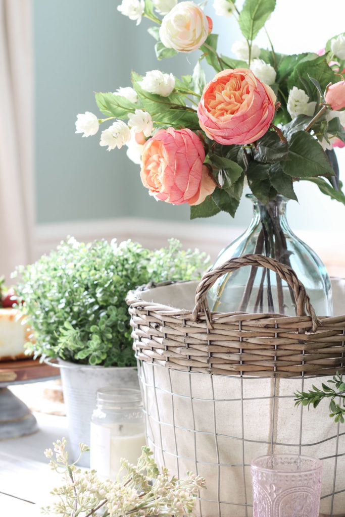 Beautiful faux florals can be used over and over again! Cheap Home Decor Ideas