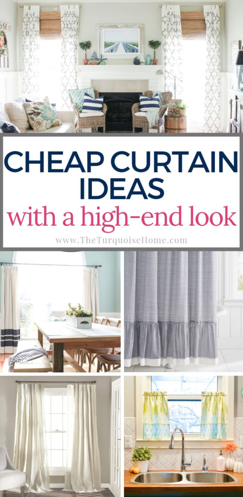 Gorgeous Cheap Curtain Ideas for Your Home | The Turquoise Home
