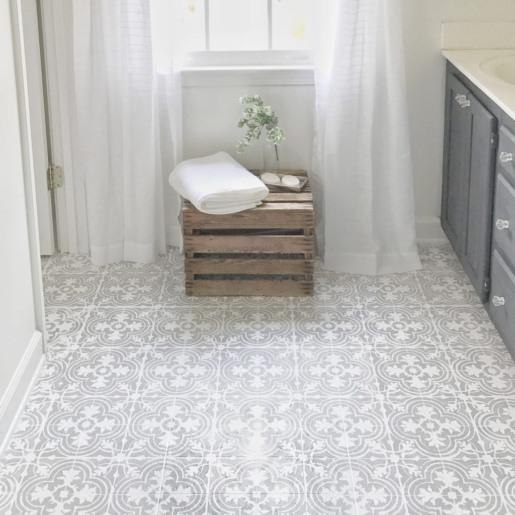 Cheap Flooring Ideas: How to Paint Your Linoleum or Tile Floors to Look Like Patterned Cement Tile