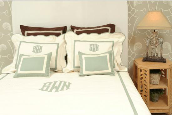 DIY monogrammed duvet cover | monogrammed comforter