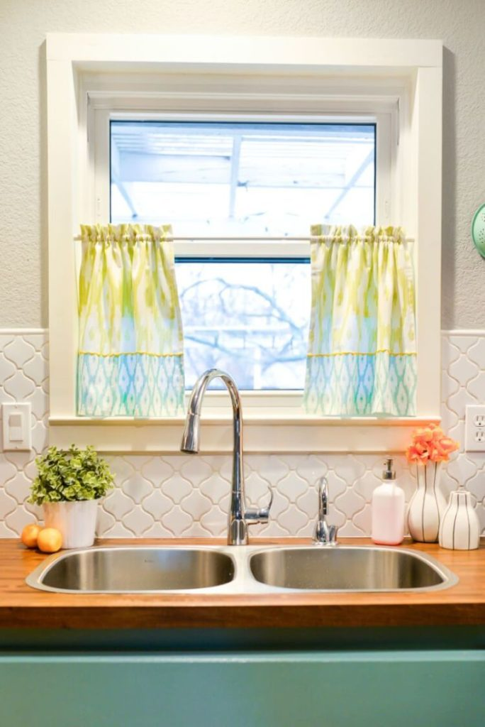 DIY Tea Towel Curtains