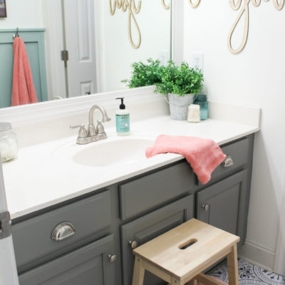 How to Create Big Style in a Small Bathroom   The Girls' Bathroom Refresh Reveal