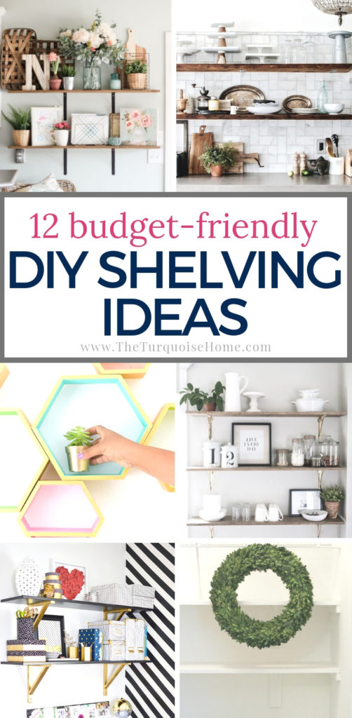 Budget-friendly Cheap DIY Shelving Ideas for your home | #diyhomedecor #woodworkingprojects #diy #diyprojects #diywoodprojects #basicwoodworkingprojects #shelves #shelving #diyshelves #cheaphomedecor #cheapdiy #storagesolutions #storageideas