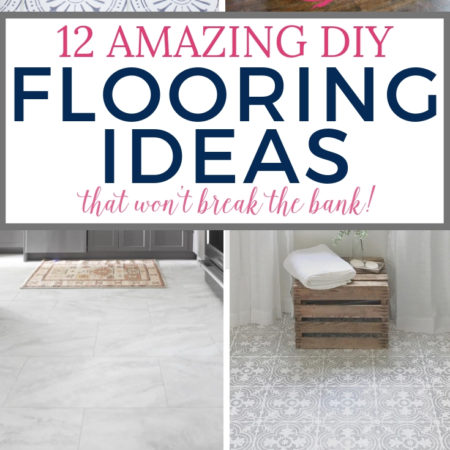 Cheap Flooring Ideas from paint to luxury vinyl, there's something here for everyone that won't break the bank! #cheapflooring #diyflooring #diyhomedecor #diyhomedecoronabudget #flooring #flooringmakeoverinspiration #floormakeover #concretetiles #peelandstick #paperbag #flooringideas