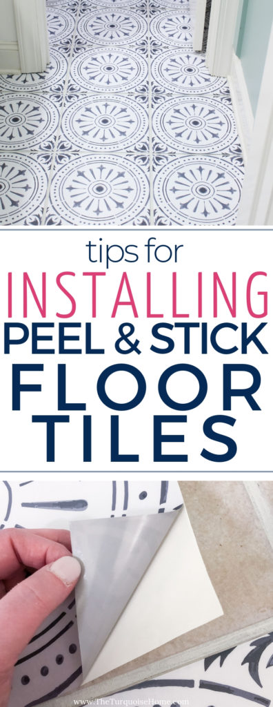 Diy Peel And Stick Vinyl Floor Tile The Turquoise Home