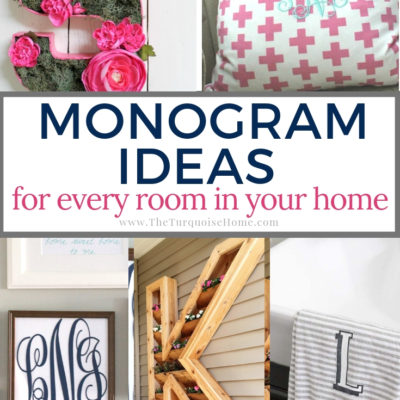 Monogram Ideas for Every Room in Your Home