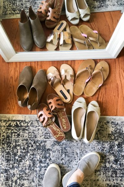 Spring Shoes try-on at The Turquoise Home