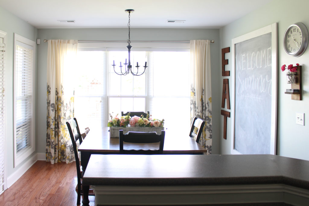 How not to hang curtains! | Cheap Curtain Ideas | Don't hang curtains low against the trim.