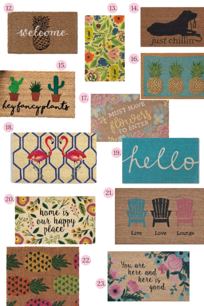25 Favorite Summer Doormats you will love!