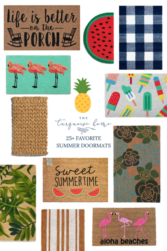25+ Adorable Summer Doormats the you will LOVE! Brighten up your front door with one of these cute doormats!