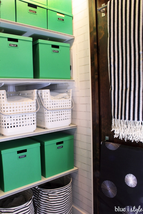Yet another inspiration piece for learning how to organize a linen closet is this beautiful closet from Blue I Style.