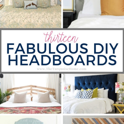 13 Fabulous DIY Headboard Ideas {How to Make a Headboard}