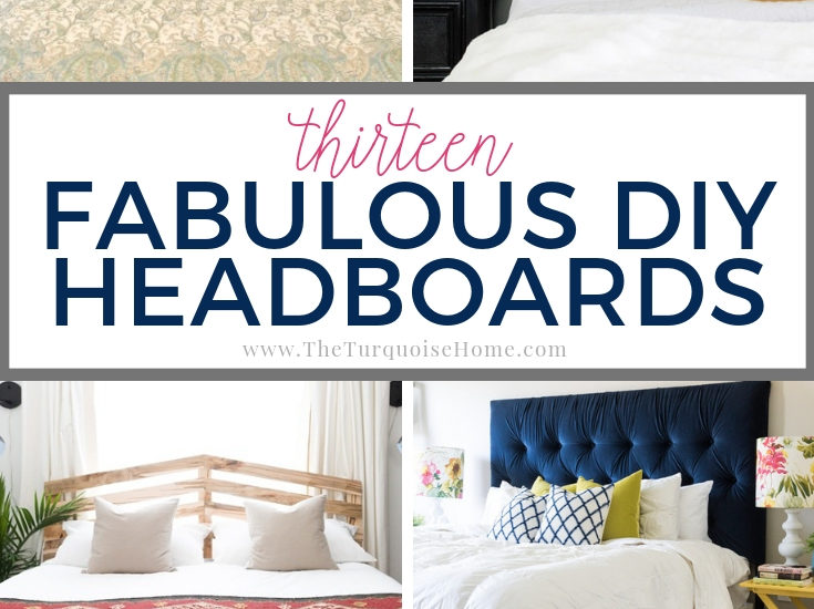 13 Fabulous DIY Headboard Ideas {How to Make a Headboard}