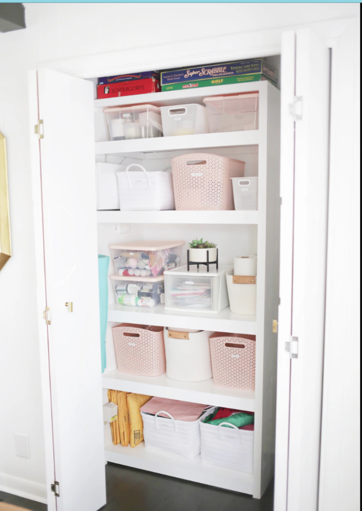How to Organize a Linen Closet from from A Beautiful Mess.