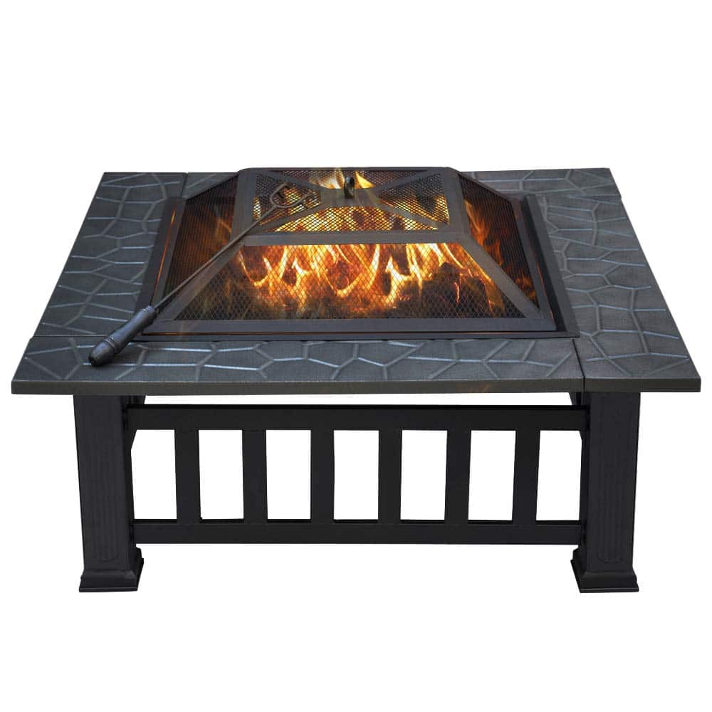 "Yaheetech 32"" Outdoor Metal Firepit"