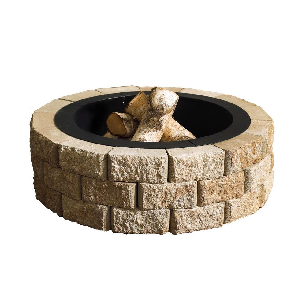 Hudson Stone Round Fire Pit Kit
