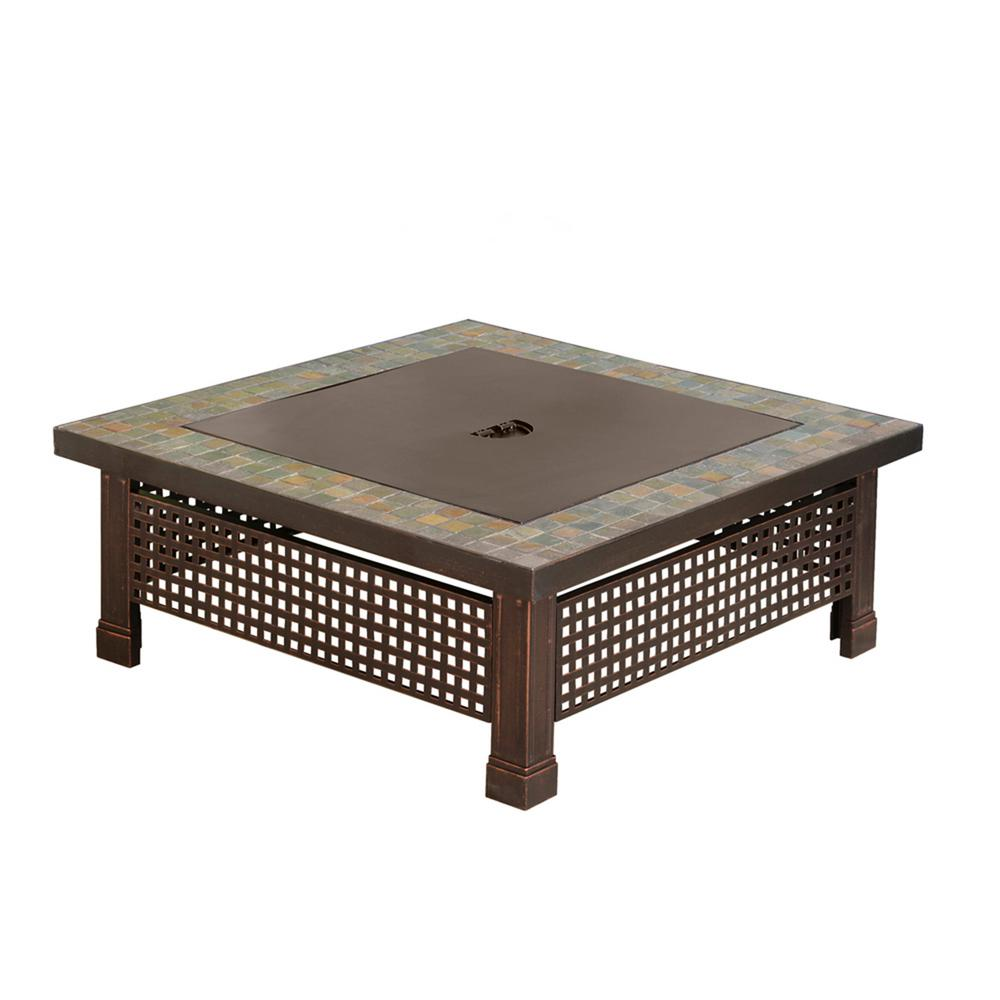 Bradford Square Steel Wood Fire Pit