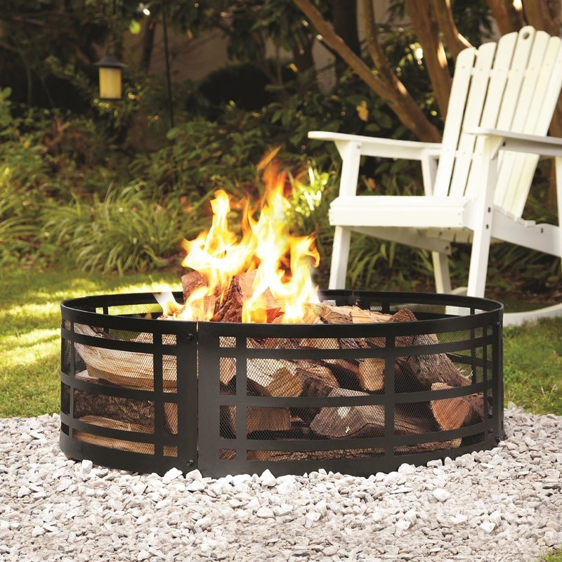 Steel Wood Burning Fire Pit | Tons of DIY Fire Pit Ideas