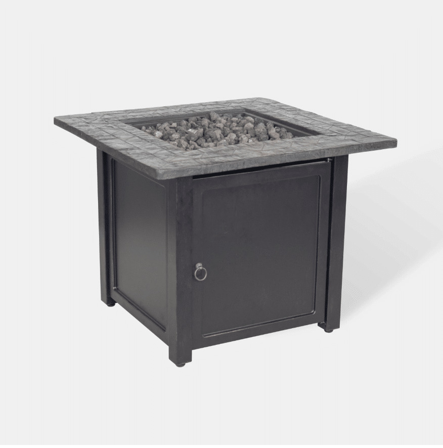 """Rocksprings 30"""" Wide Square Fire Table"""