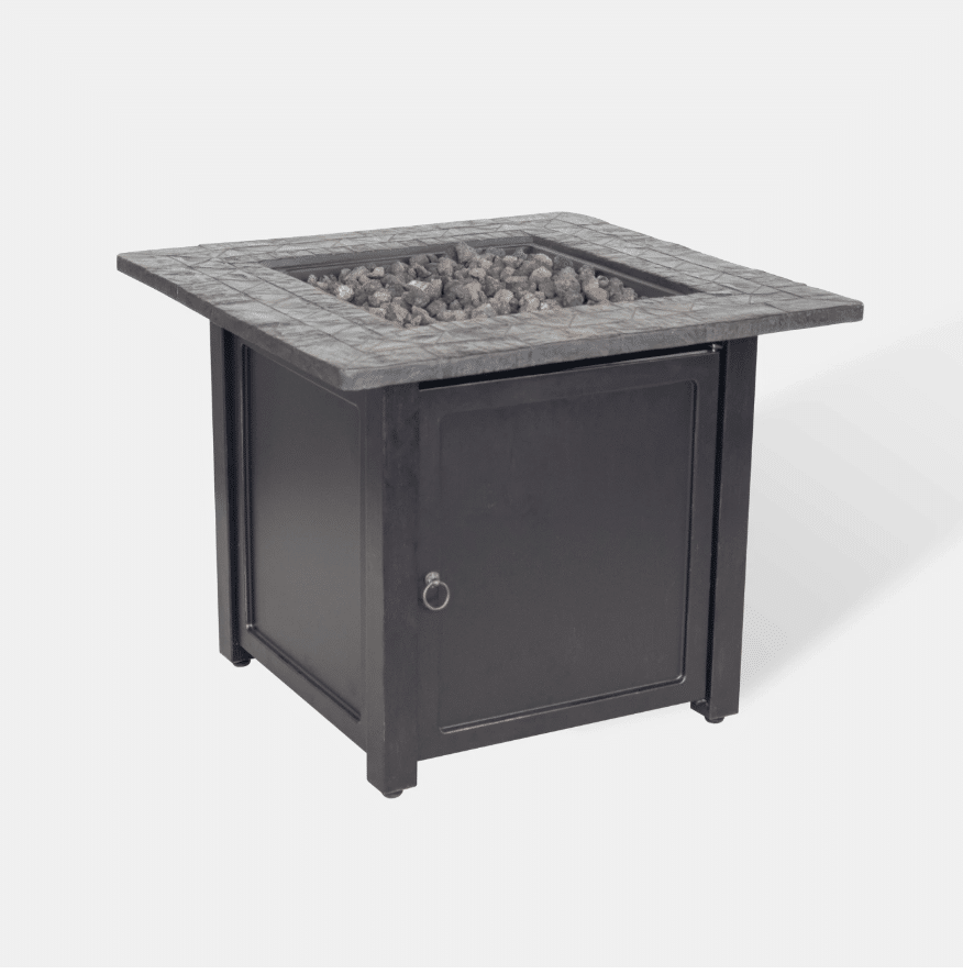 "Rocksprings 30"" Wide Square Fire Table"