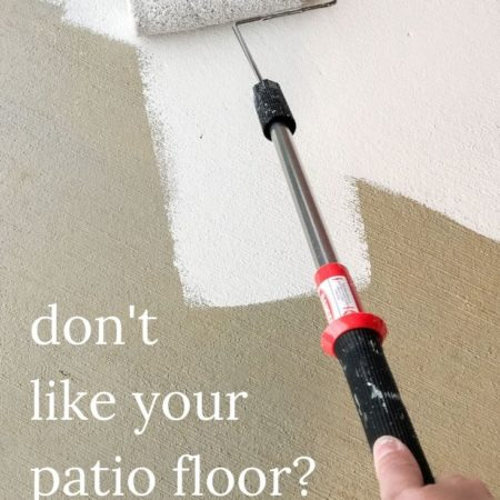 Don't Like Your Patio Floor? Paint It! | How to Paint a Concrete Patio | #outdoordiy #diyoutside #paintedfloors #diyhomedecor