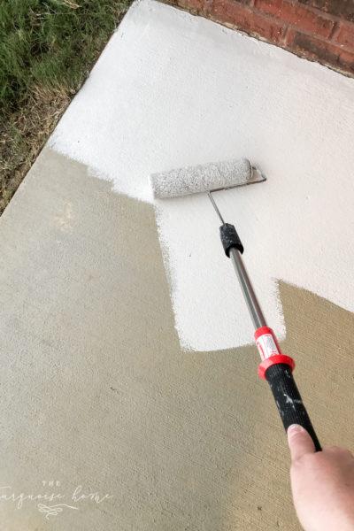 How to Paint a Concrete Porch!