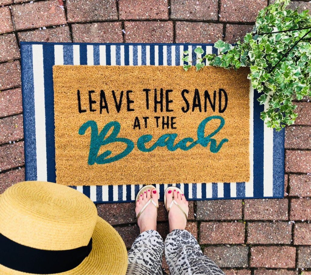Leave the Sand at the Beach Doormat | 25+ Cute Summer Doormats