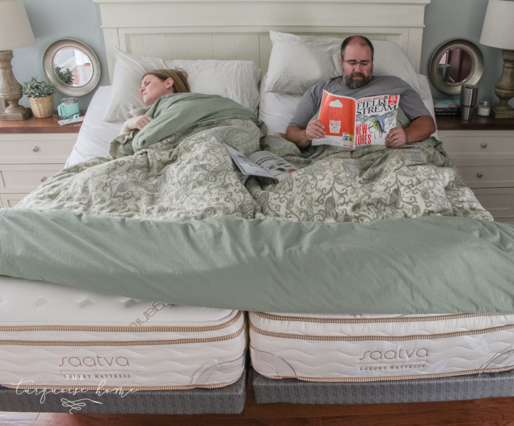 The Marriage Hack you didn't know you needed! Love our 2 twin Saatva Mattresses with adjustable bases. | Pros and Cons of sleeping in separate beds | Less motion transfer with the individually wrapped coils