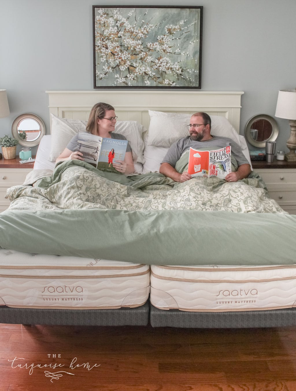 The Marriage Hack you didn't know you needed! Love our 2 twin Saatva Mattresses with adjustable bases. | Benefits of sleeping in separate beds