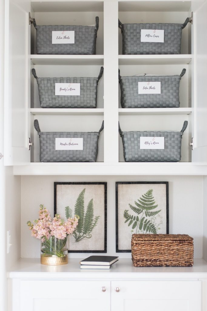 Linen Closet in a cabinet from A Thoughtful Place