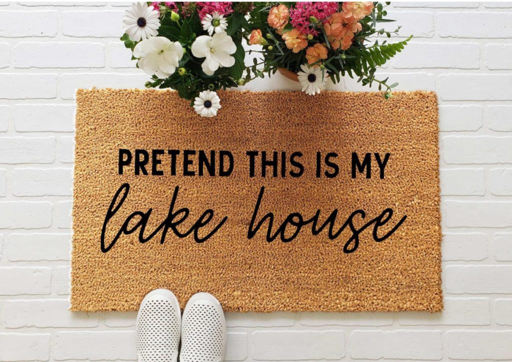 Pretend this is my lake house doormat | 25+ Cute Summer Doormats