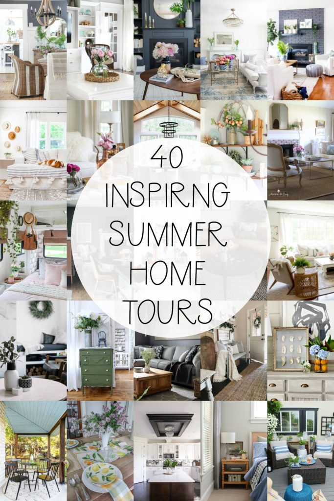 40 Inspiring Summer Home Tours with tons of great ideas for decorating your home for summer!