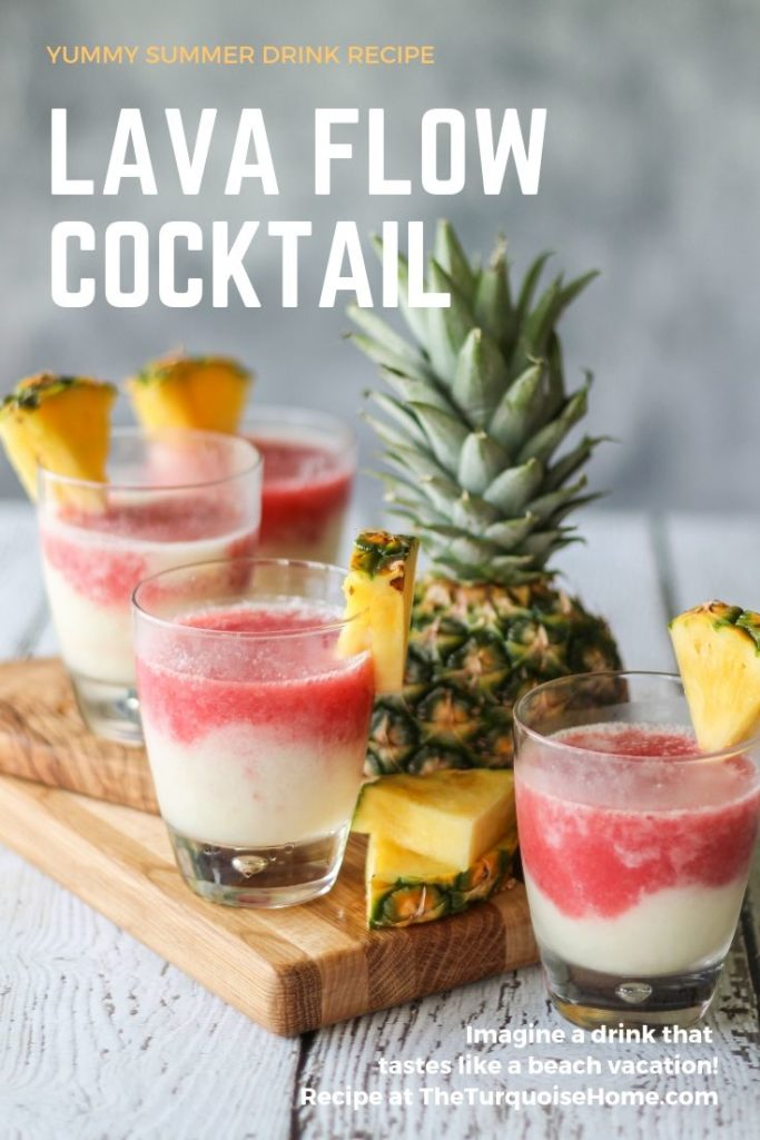 This Lava Flow Cocktail will make you feel like you're hanging out on the beach! A traditional Hawaiian drink!