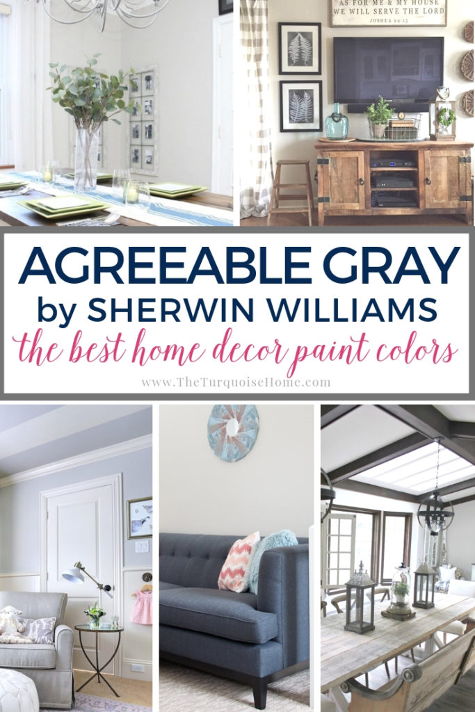 Agreeable Gray by Sherwin Williams is one of the most popular gray paint colors out there today! #paintcolors #sherwinwilliams #agreeablegray #diyhomedecor #diyhomedecoronabudget