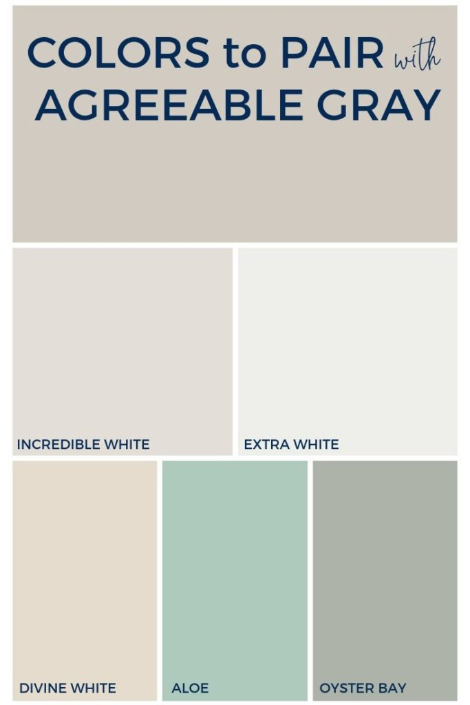 What colors to pair with Agreeable Gray?