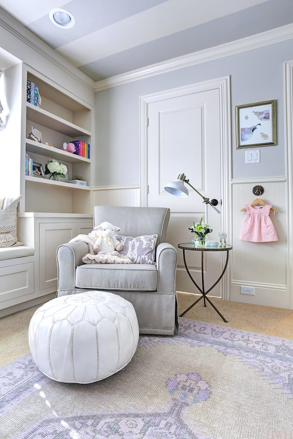 Little girl's nursery with Agreeable Gray by Sherwin Williams