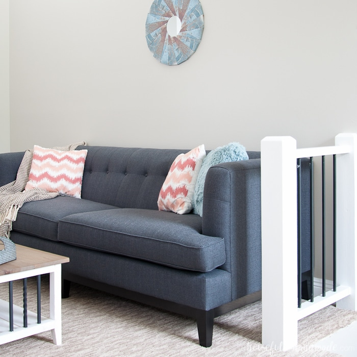 A loft with Agreeable Gray by Sherwin Williams
