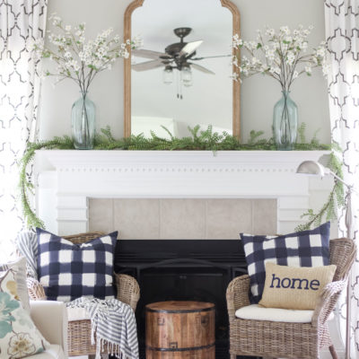 A Simple Summer Mantel