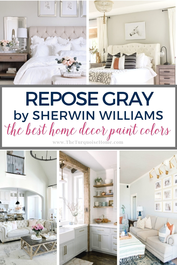 Repose Gray by Sherwin Williams is one of the most popular gray colors - and for good reason. It looks good in almost any room! See more here....