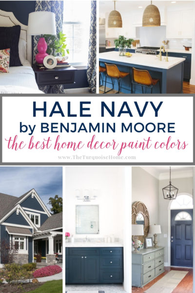 Benjamin Moore Haly Navy is one of the most popular navy paint colors!