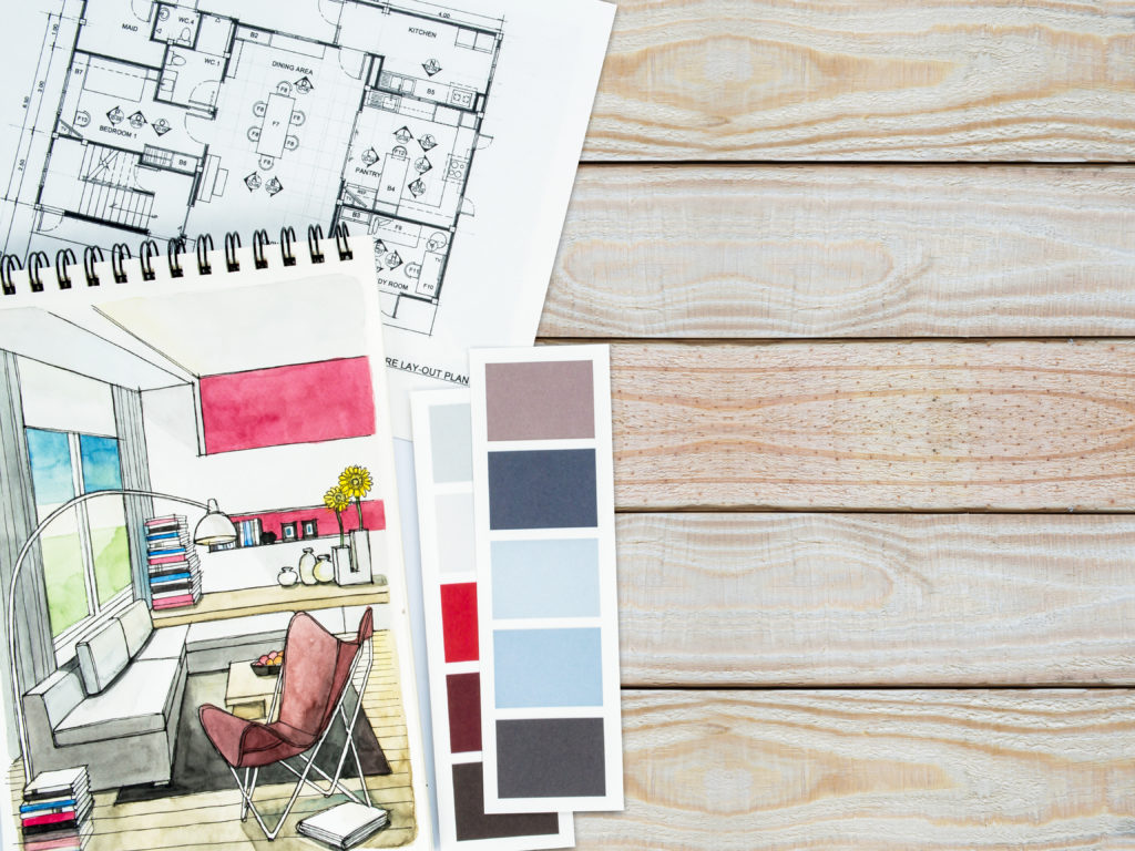 Space planning and home decor concepts