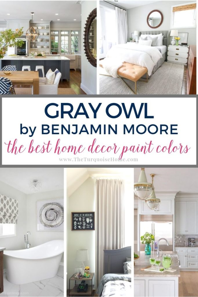 The Best Home Decor Paint Colors: Gray Owl | The Turquoise Home