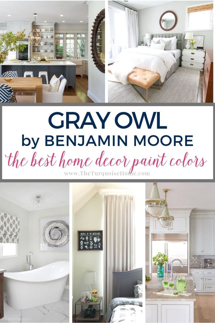 Gray Owl by Benjamin Moore is one of the most popular gray colors - and for good reason. It looks good in almost any room without a lot of natural light!